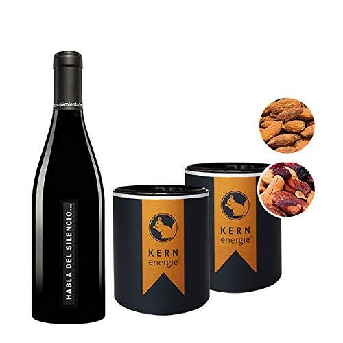 KERNiger Weindialog - Wein & Nüsse   trockener Rotwein mit hochwertigen Nüssen   Weinset von KERNenergie in Premium Qualität