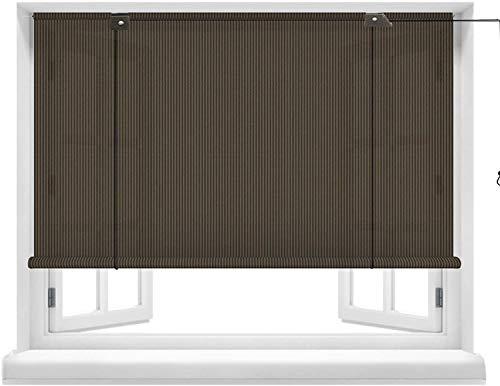 Persianas enrollables opacas, cortinas de sombrilla, cortina de ventana con aislamiento térmico, riel colgante de aleación de aluminio con gancho adhesivo para pérgola de porcheCerca de Jardín