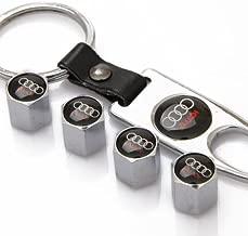 ZKHXFS zinc Alloy tire Valve Cap Keychain Apply to for Audi