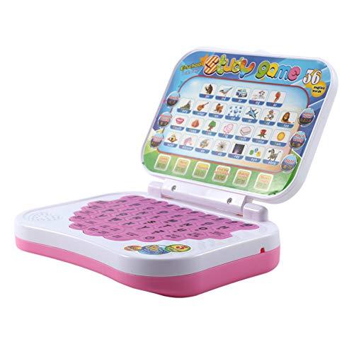 Drfeify Ordenador portátil para niños, Bebé Niños Niños Estudio de Aprendizaje Educativo bilingüe Juguete portátil Juego de computadora