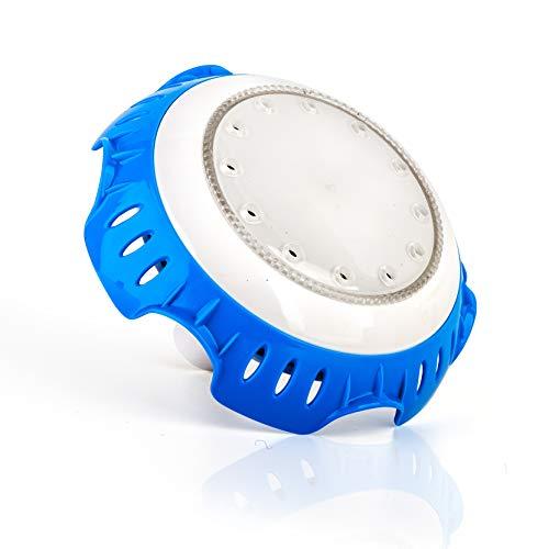 GRE LEDRC-Projecteur LED couleur pour piscines hors-sol, autoportantes et avec parois rigides, 16 x 10 x 16 cm