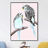 ブランチアートプリント鳥ポスターキャンバス絵画壁画写真リビングルームの家の装飾のための印刷ギャラリー-50x70cmフレームなし