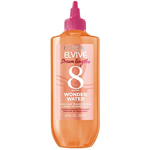 L'Oreal Paris Elvive Dream Lengths 8 Second Wonder Water, Long Hair Transforming Lamellar Rinse Out, Instantly Detangles, Smooth, Sleek Hair, Sulfate-Free, Paraben-Free, Dye-Free, Silicone-Free, 6.8 f