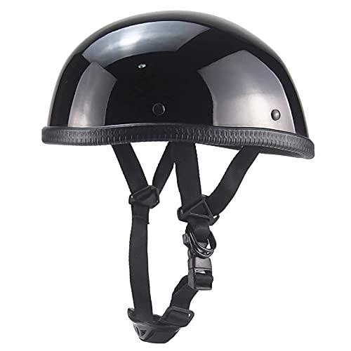 F&FSH· Casco para Montar En Monopatín, Casco De Motocicleta Certificado por Dot, Casco Clásico para Adultos, Ligero, con Parasol Impermeable, Hebilla De Liberación Rápida, Medio Casco De Motocicleta