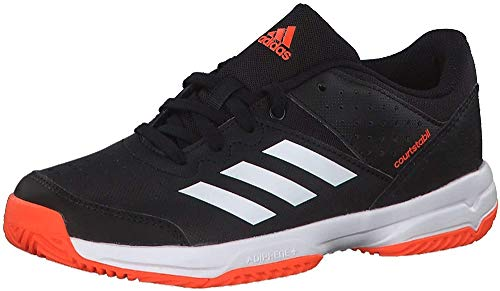 adidas Court Stabil Jr Handballschuhe, Schwarz (Negbás/Ftwbla/Narsol 000), 35 EU