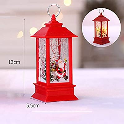 AMhomely Christmas Decorations Sale Lights - Xmas Candle With Led Tea Light Lampion Flame Lamp Fireless Candles Lamp Holiday Hanging Ornaments Gifts Beautify Your House And Party