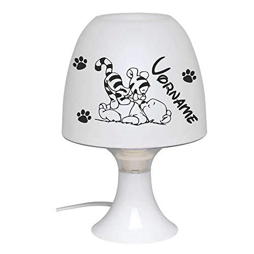 Kinderlampe - Nachttisch Lampe zum Anpassen mit Vornamen des Kindes - Nachttischlampe Kinder - Perfektes Geschenk zur Geburt, Taufe, Jahrestag und Weihnachten - Spaß am Schenken