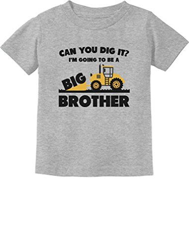 Going to Be A Big Brother Gift for Tractor Loving Boys Toddler Infant Kids T-Shirt 3T Gray