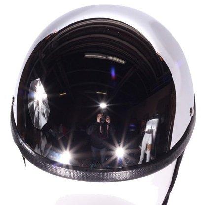 Chrome Gladiator Style Novelty Motorcycle Helmet (Size 2XL, XX-Large)