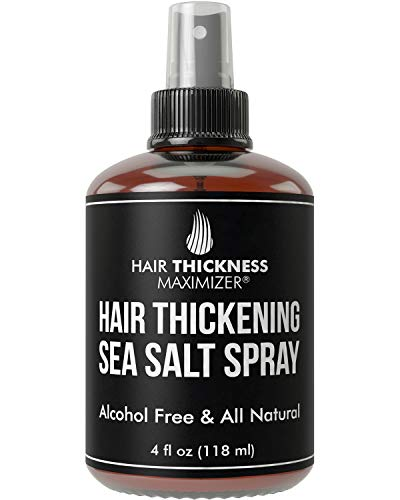 Sea Salt Spray For Hair Thickening. For Men and Women. With Biotin, Keratin, No Alcohol. Great for Hair Growth, Beard. Volumizer + Texture. Stop Hair Loss and Thinning. Sea Salt Water Hair Sprays