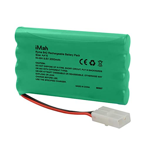 iMah 9.6V AA Battery Pack 2000mAh High Capacity Ni-MH Rechargeable with Standard Female Tamiya Connector for RC Car 1/20 RC Tank Robots Security