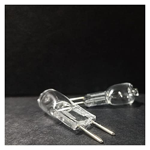 ZHANGKE CHULONG 10pcs GY6.35 Halogen Lamp 12V 20W 35W 50W Warmwhite Halogen Bulb Clear G6.35 Crystal Light Microscope (Emitting Color : Warm White, Wattage : 35W)