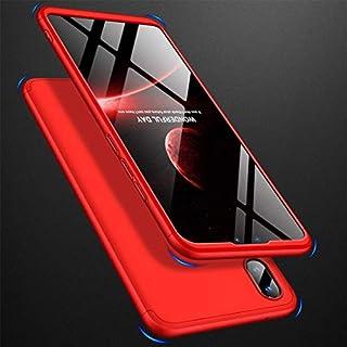 Huawei社Y9のための電話ケース携帯電話アクセサリー(2019)、三段階のスプライシングPCケースフルカバー(色:ゴールド)と-Red