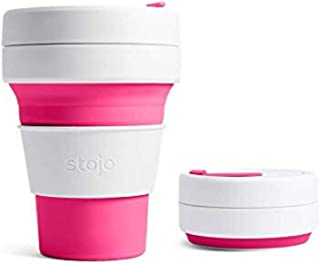 Stojo Pocket Cup Collapsible Silicone Pocket Cup, Pink, S1-PNK