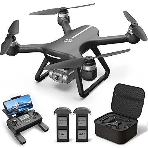 Holy Stone ドローン 4Kカメラ付き GPS搭載 EIS手ブレ補正 4K Sonyセンサー 広角130°HDカメラ 屋外 ブラシレスモーター付き フライト時間42分 収納ケース付き 自動航行 オートリターンモード フォローミーモード 高度維持 2.4GHz 国内認証済み HS700E 黒