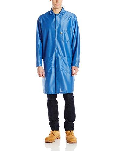 Red Kap Men's ESD/Anti-Stat Tech Coat, Electronic Blue , 3X-Large