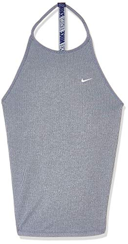 Nike Damen Dri-fit Striped Sport Tank Top, Blau (Indigo Force/Heather/White 438), Medium