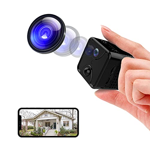 RUIZHI Mini cámara 4K UHD Wireless WiFi Videorecoder Cam with Night Vision Motion Detection for Home/Car/Interior/Outdoor