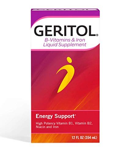 = Geritol B-Vitamins and Iron for Energy Support,...