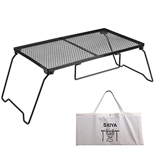 SXIYA フィールドラック 折り畳み グラウンドラック メッシュテーブル スチール アウトドアテーブル 収納用...