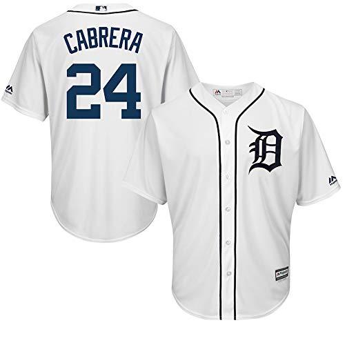 YQSB Jersey Baseball League Detroit Tigers # 24 Cabrera,White,Men-L
