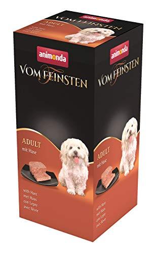 animonda Vom Feinsten Adult Hundefutter, Nassfutter für ausgewachsene Hunde, mit Hase, 6 x 150 g