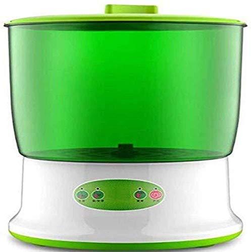 Brotes de Soja de la máquina eléctrica de Inteligencia de Semillas Brotes Maker 2 Capas de Gran Capacidad termostato Sprouter Bricolaje brotes de Frijol más Sano y Seguro