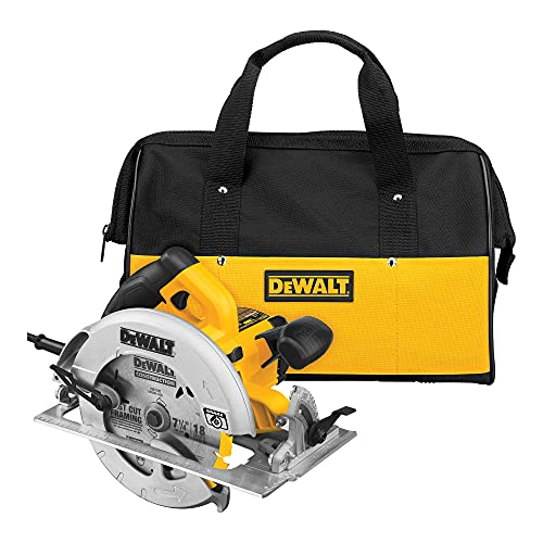 DEWALT 7-1/4-Inch Circular Saw with Electric Brake, 15-Amp, Corded (DWE575SB) , Yellow