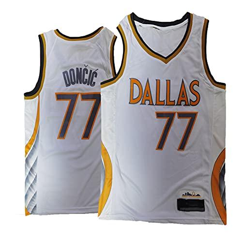 FDGHSX Mávèricks 77# Dóńcic - Camiseta bordada para hombre, temporada 2021, camiseta sin mangas, uniformes en baloncesto, hockey, ciclismo y rugby, talla XL