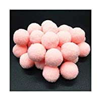 MIYU ふわふわソフトPomPomのぬいぐるみポンポンPOMSボールPompones手作りソーイング・クラフト子供のおもちゃの結婚式の装飾 (Color : Light pink, Size : 20mm 36pcs)