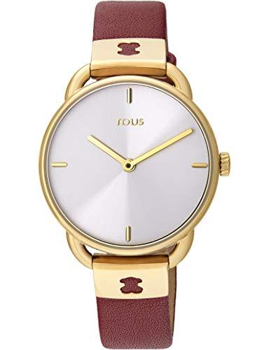 TOUS Reloj Let Leather IPG ESF Plata Correa RUBÍ Ref 000351470