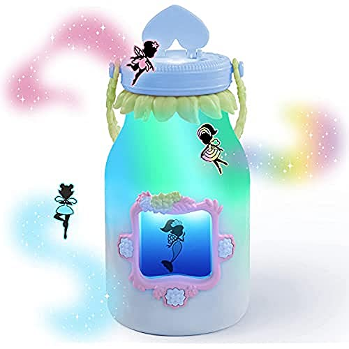 WowWee Got2Glow Fairy Finder - Electronic Fairy Jar Catches Virtual Fairies - Got to Glow (Blue)