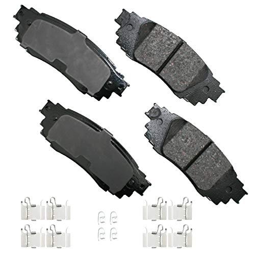Akebono ACT1879 Ultra-Premium Ceramic Rear Disc Brake Pads , GREY