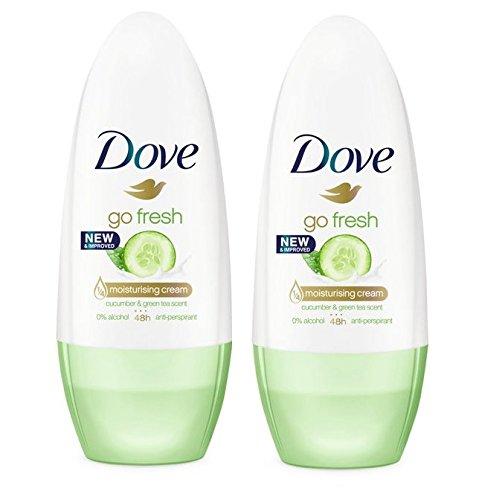 Dove Go Concombre Frais Roll-On Anti-Transpirant Déodorant 50Ml (Lot de 2)