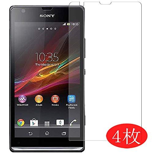 Vaxson 4 Stück Schutzfolie kompatibel mit Sony Xperia SP C5303, Displayschutzfolie Bildschirmschutz Blasenfreies TPU Folie [Nicht Panzerglas]