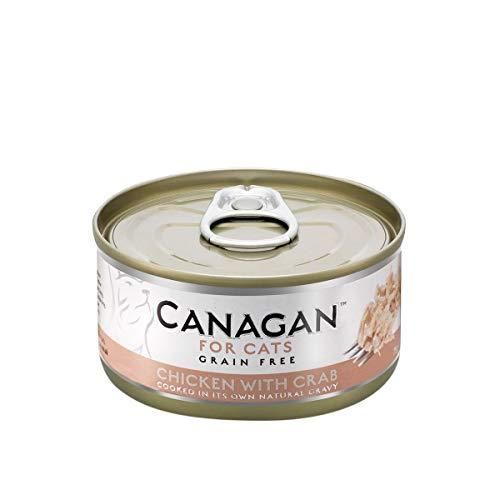 canagan Forro para gatos sin cereales–Chicken with Crab–75G X 6UNIDADES