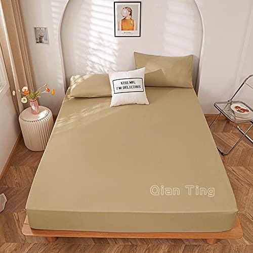 Lamcomt 1 funda de colchón de 100% poliéster sólido con cuatro esquinas con banda elástica para cama (funda de almohada de solicitud) (color: tuose, tamaño: fundas de almohada de 50 cm x 70 cm)