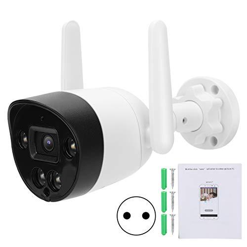 Cámara de Seguridad para Exteriores WiFi, cámara HD con intercomunicador bidireccional, cámara de videovigilancia, CCTV PIR, cámara de visión Nocturna Impermeable IP66, para Seguridad en el(Transl)