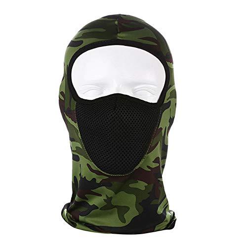 Outdoor Ijs Zijde Masker Zonnebrandcrème Gezicht Geschikt Voor Sporten Met Mesh Ademende Capuchon,Camouflage army green