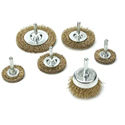 Kawasaki 840255 Wire Wheel Cup and Brush Set 6-Piece