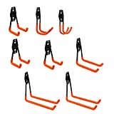HENGMEI 8 PCS Gancho para Colgar Colgadores de Bicicletas para organizar herramientas eléctricas en Taller Almacen Casa Garaje
