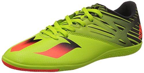adidas Herren Messi 15.3 IN Fußballschuhe, Grün (Semi Solar Slime/Solar Red/Core Blacksemi Solar Slime/Solar Red/Core Black), 46 2/3 EU