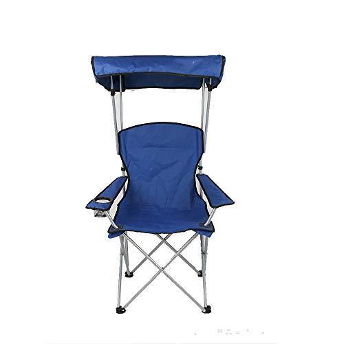 HYRL Chaise de Sunshade Loisirs de Plein air, Chaise de Voyage Pliable de Chaise de pêche Portable avec Parapluie Dossier Pique-niquer Camping Chaise