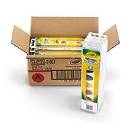 Crayola 8 Pan Set Washable Watercolors,12 Pack, Kids Indoor Activities At Home