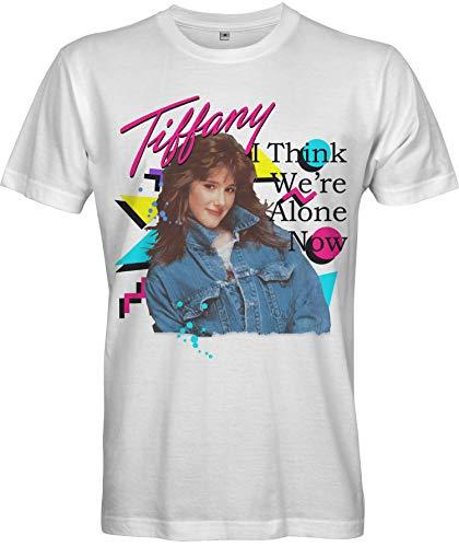 White Tiffany 80s Pop Star T-shirt for Men