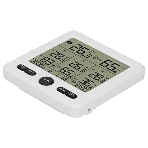 Esenlong Ts- 6210 3-In-1-Funk-Hygrometer-Außentemperaturmesser mit Alarmweiß