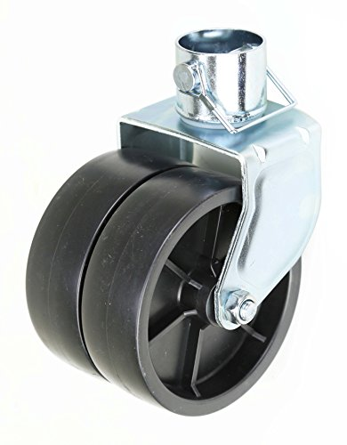 """LIBRA New 6"""" Dual Trailer Swirl Jack Caster Wheel with Pin - 26038"""