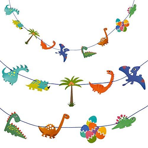 Oblique Unique - Guirnalda de dinosaurios para niños, decoración de cumpleaños