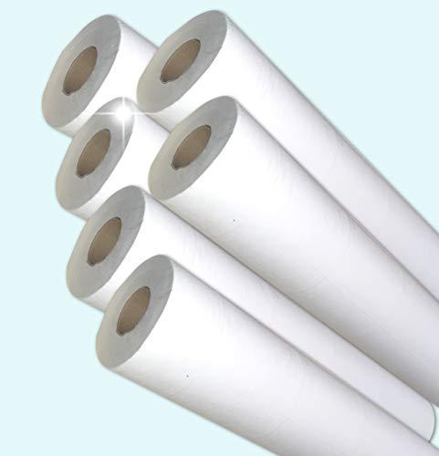 Dstock60 – Lote de 6 rollos de sábanas de examen – 50 x 38 – 2 x 18 g – Pure Ouate – Fabricación francesa – consultorios médicos – Cuidado – Higiene