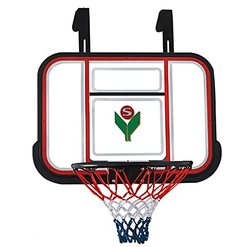 Canasta de baloncesto Mini Aro de Baloncesto con Gancho, Conjunto de Aro de Baloncesto de Montaje en Pared Portátil para Niños, Canasta de 45cm de Diámetro